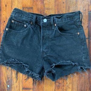 Levi's authentic 501 denim shorts